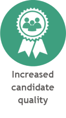 increased candidate quality rpo icon